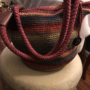 Multicolored crochet hobo bag by The Sak